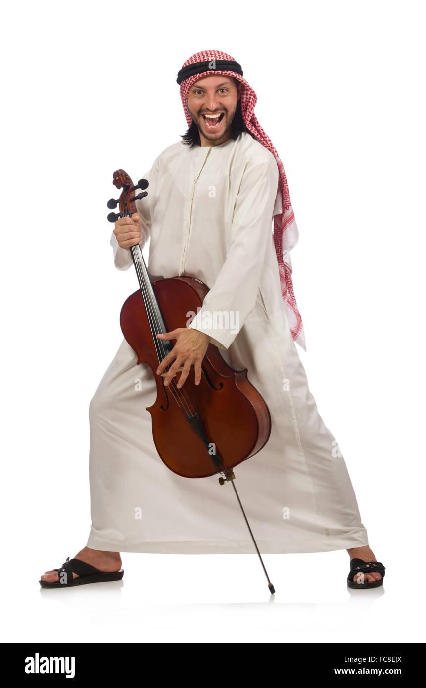 Arab man playing musical instrument Stock Photo: 93614834