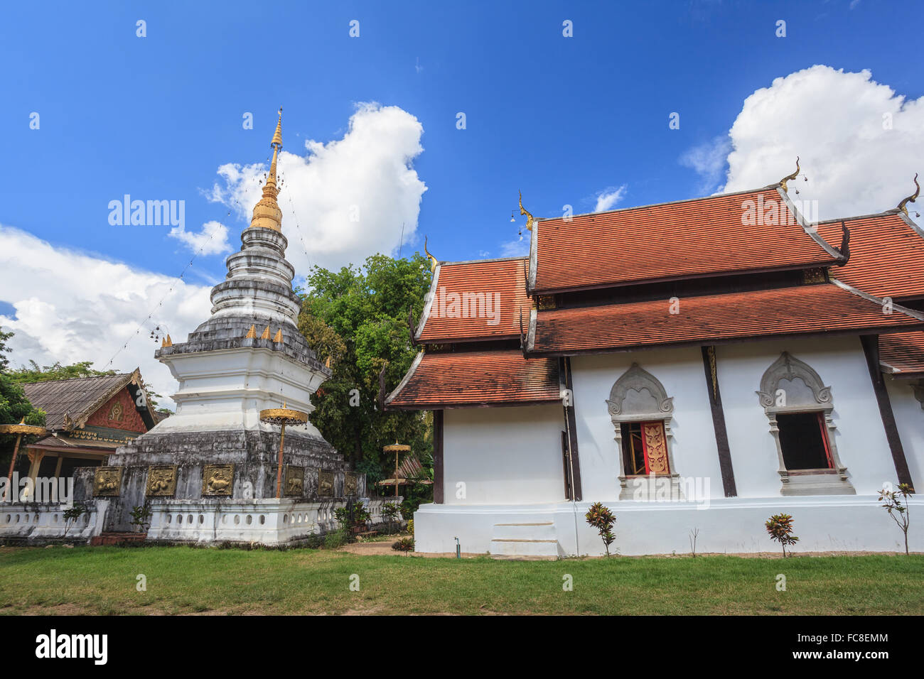 old temple at Chiang Mai , Thailand - Stock Image