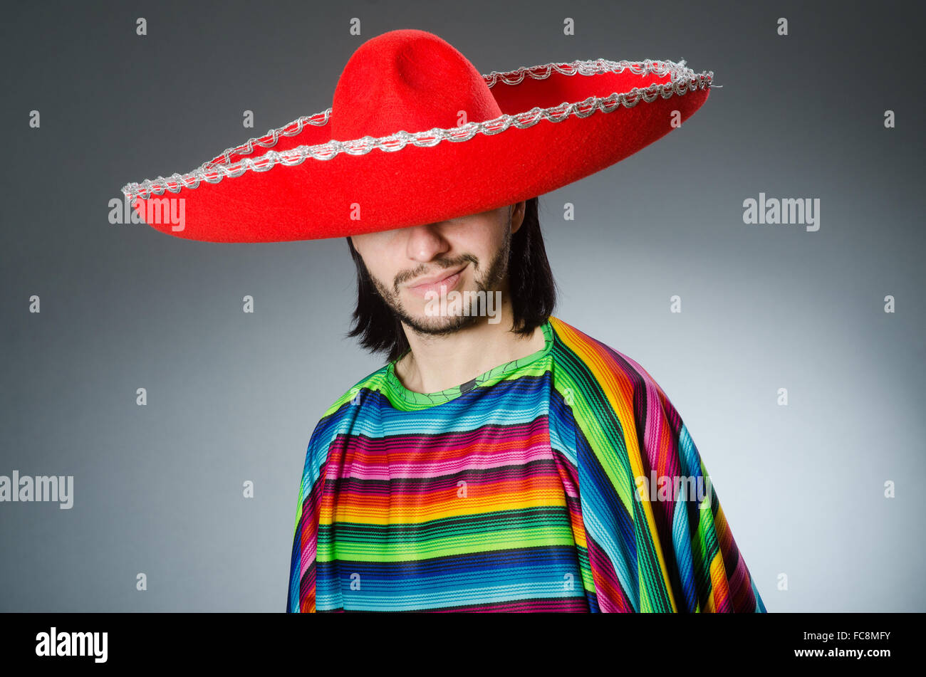 Funny mexican wearing sombrero hat Stock Photo  93619455 - Alamy 0a6523532d5