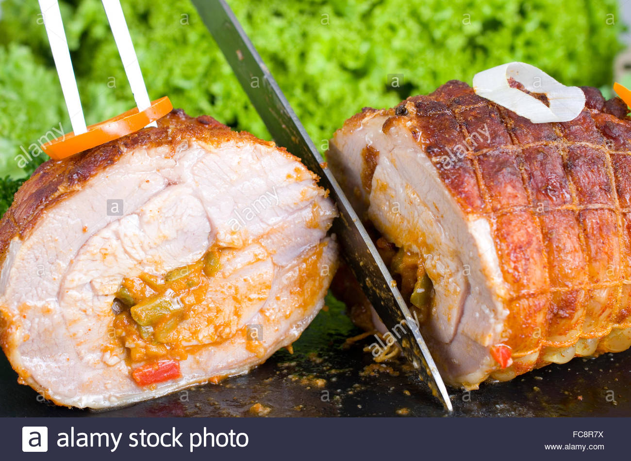 Rolled turkey joint - Stock Image