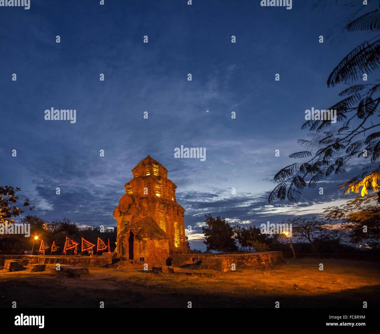 Po Nagar Cham Towers, Nhan tower, Vietnam - Stock Image
