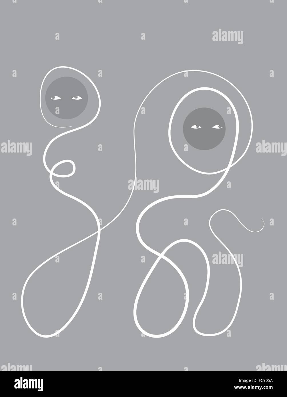 Unhappy couple - Stock Image