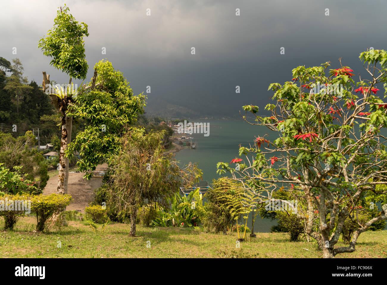 Lake Bratan, Bedugul, Bali, Indonesia - Stock Image