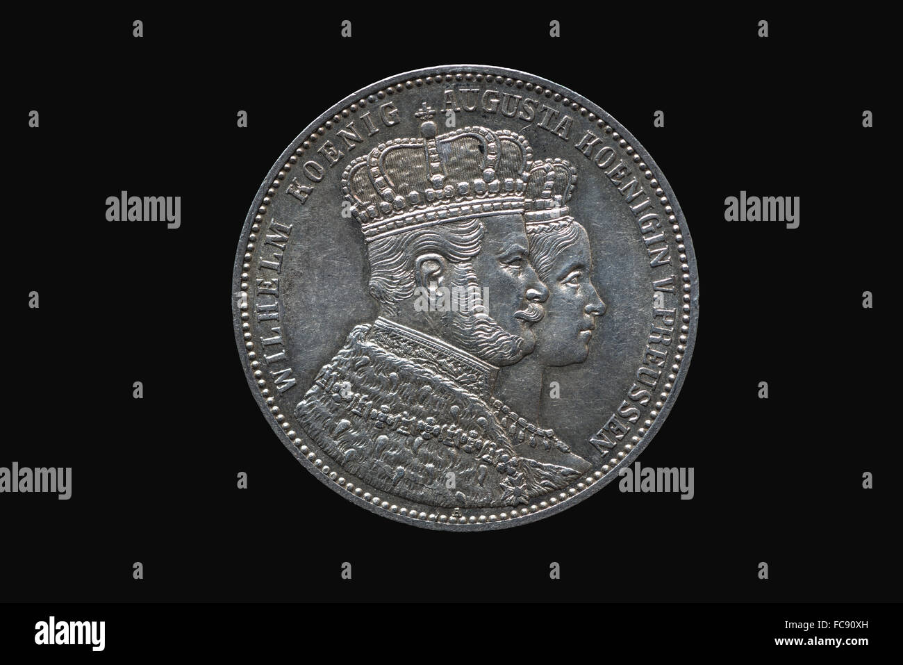 King William of Prussia, Coronation Thaler - Stock Image
