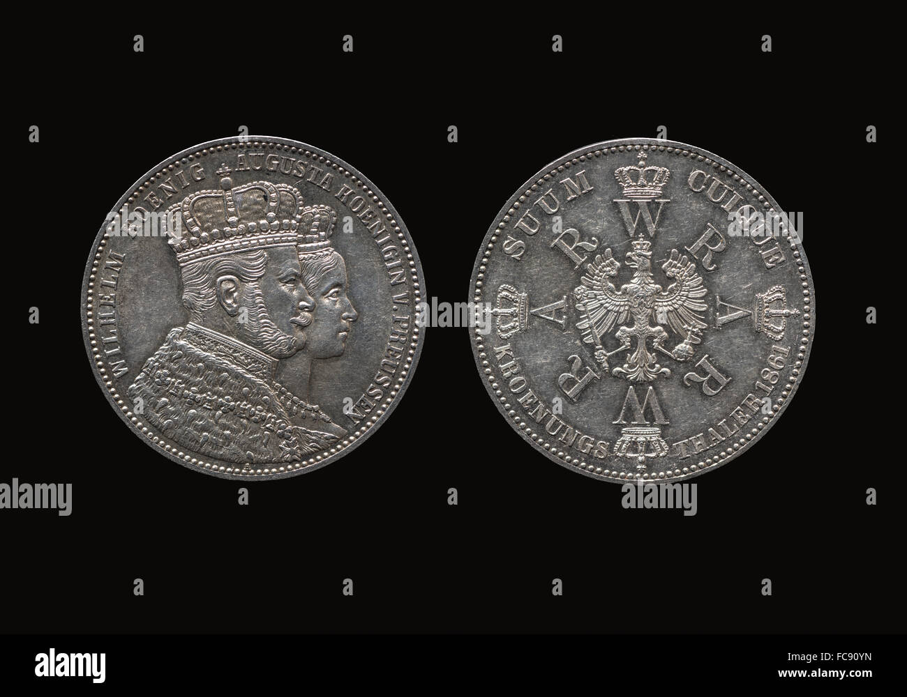 King William, Prussian Coronation Thaler - Stock Image