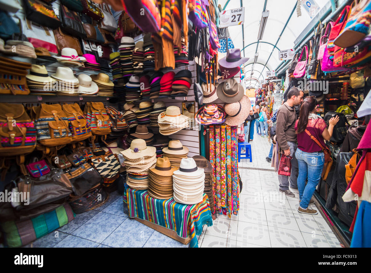 Mariscal Artisanal Market (Mercado Artesanal La Mariscal), Quito, Ecuador, South America Stock Photo