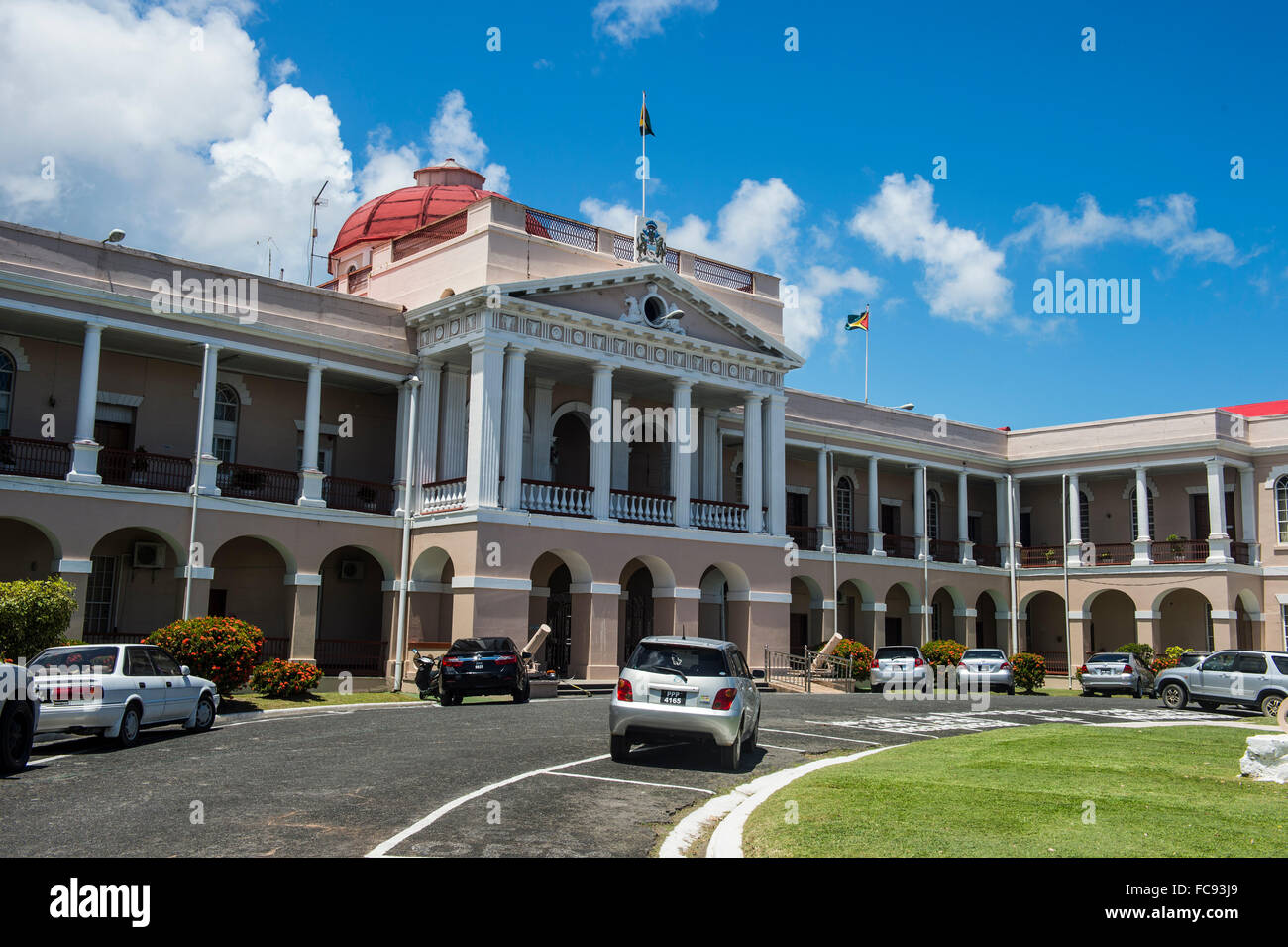 The Parliament of Guyana, Georgetown, Guyana, South America - Stock Image
