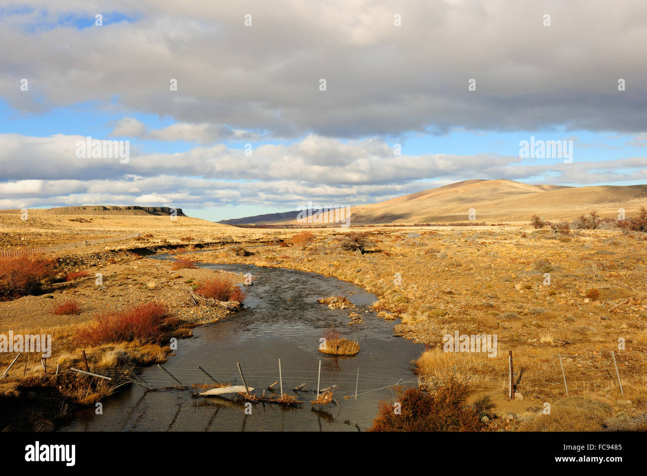 Patagonic landscape, Patagonia, Argentina, South America - Stock Image