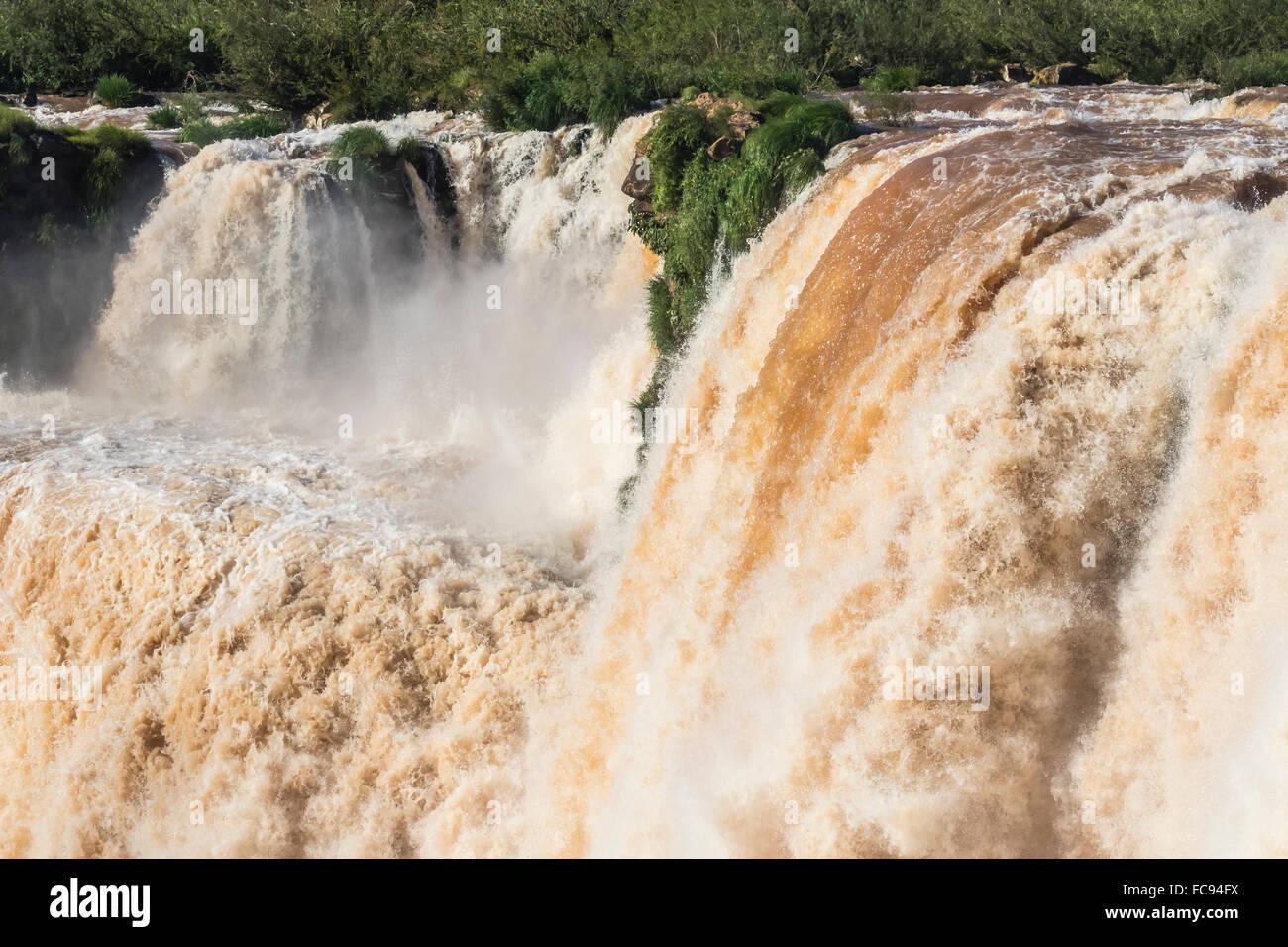 The Devil's Throat (Garganta del Diablo), Iguazu Falls National Park, UNESCO World Heritage Site, Misiones, - Stock Image