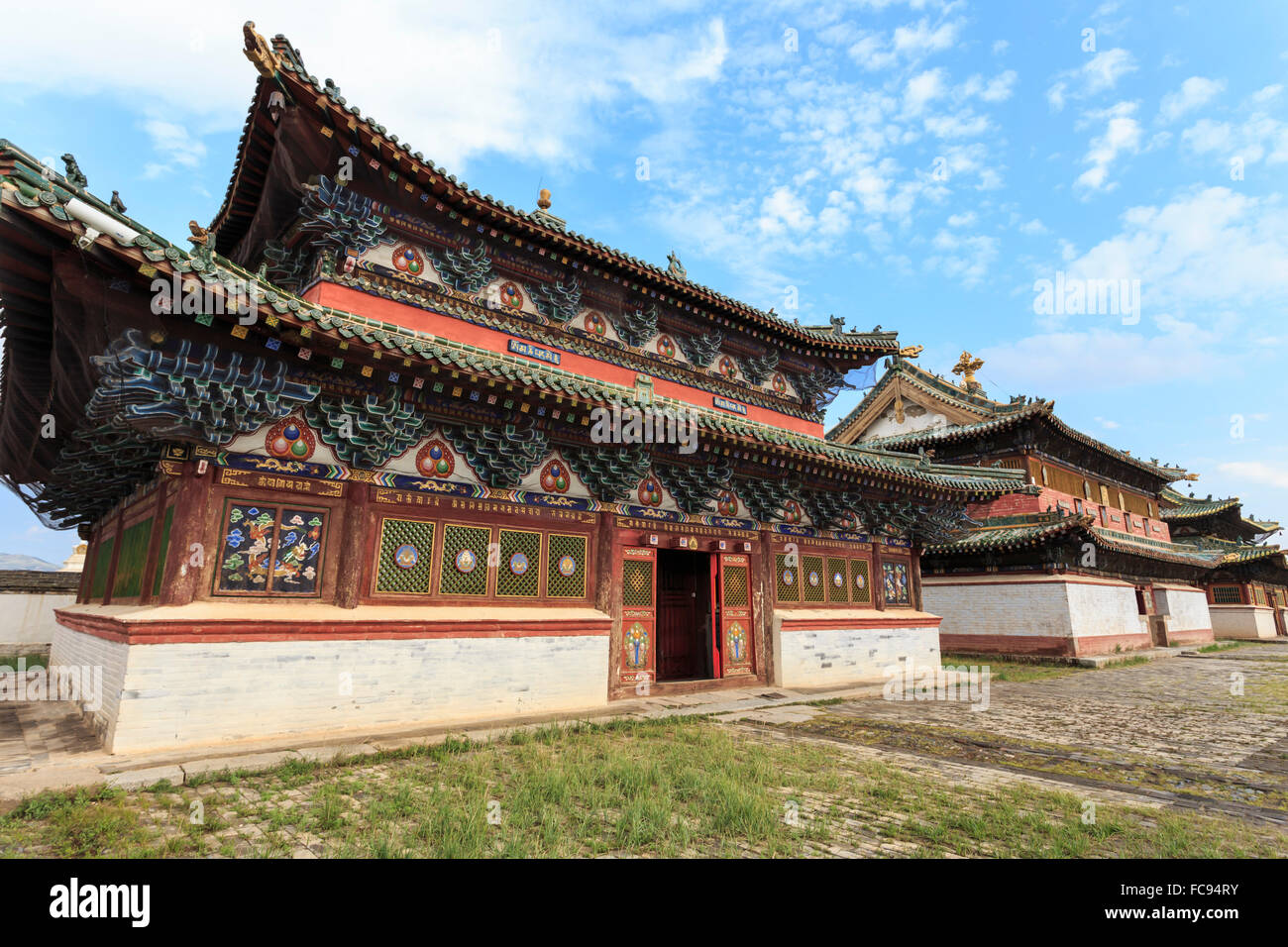 Baruun Zuu temple, Erdene Zuu Khiid, Buddhist Monastery, Kharkhorin (Karakorum), Central Mongolia, Central Asia, - Stock Image