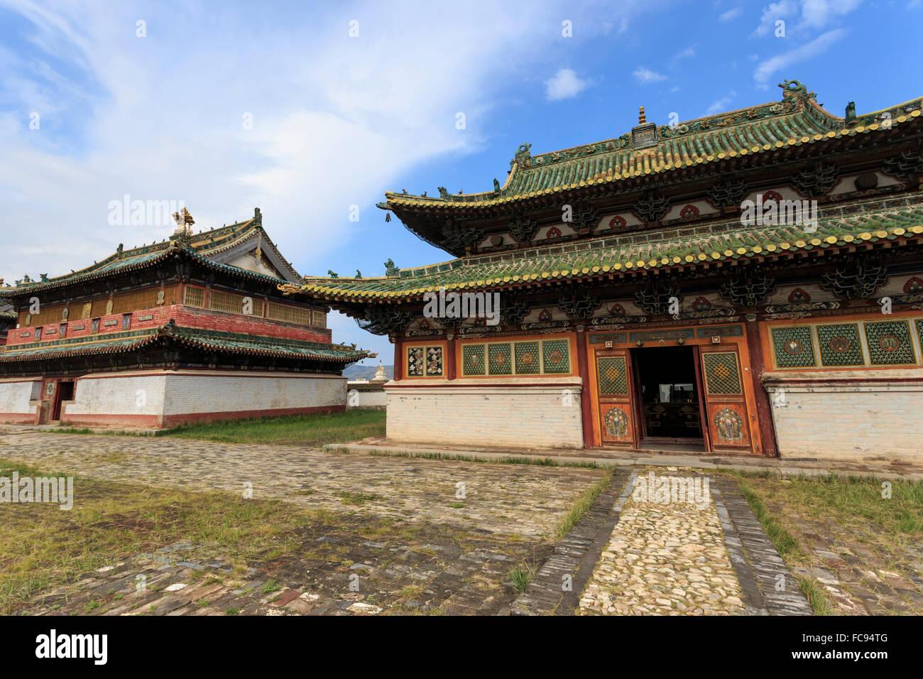 Zuun Zuu temple, Erdene Zuu Khiid, Buddhist Monastery, Kharkhorin (Karakorum), Central Mongolia, Central Asia, Asia - Stock Image