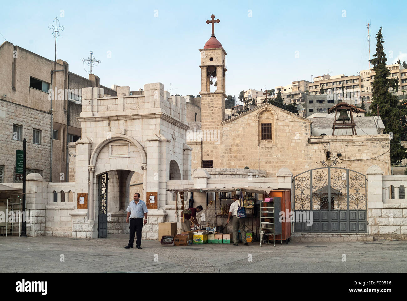 Greek Orthodox Church of Gabriel, Nazareth, Israel Stock Photo