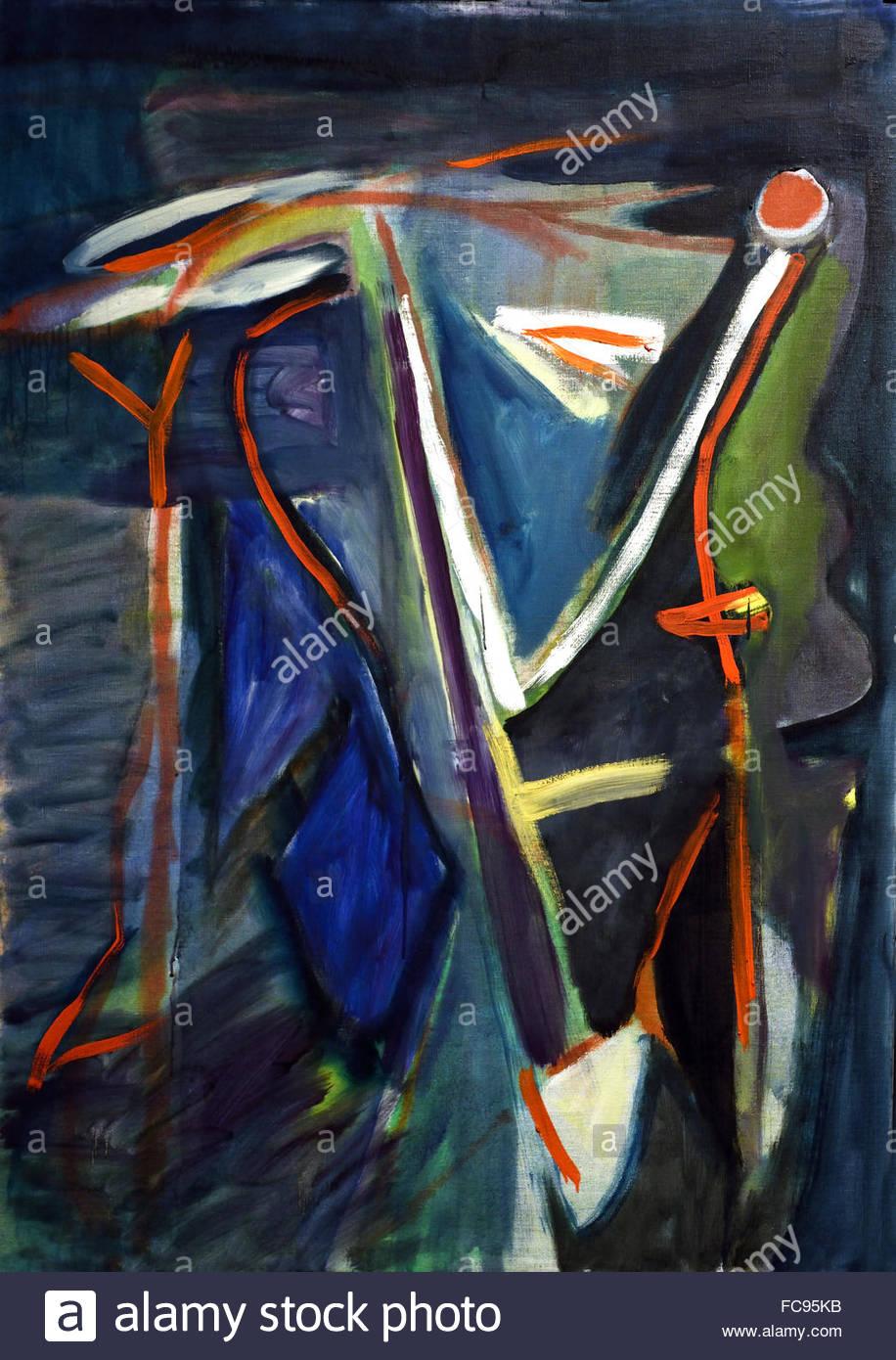 Melancholic 1957 Bram Van Velde1895-1981 Dutch Netherlands - Stock Image