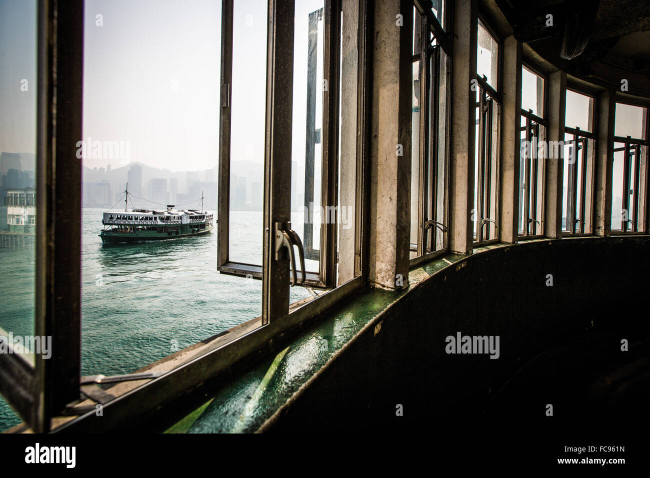 Star Ferry from Kowloon, Hong Kong, China, Asia Stock Photo