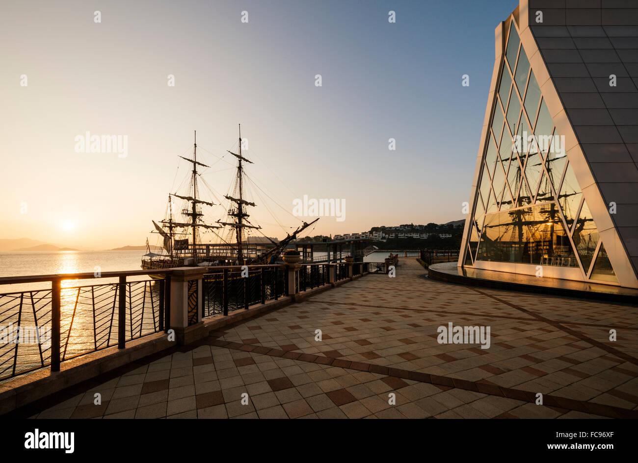 Discovery Bay at dawn, Lantau Island, Hong Kong, China, Asia - Stock Image