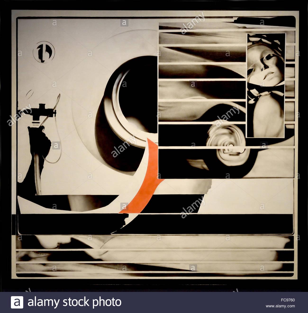 Woman Object 1967 Peter Klasen 1935 German Germany - Stock Image