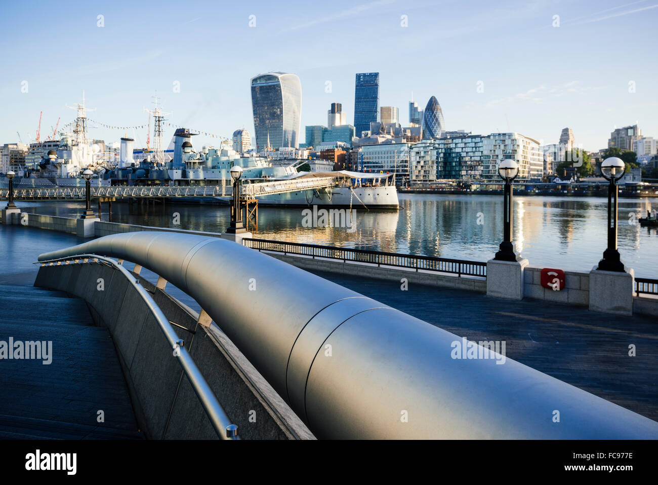 View of City from More London Place, London, England, United Kingdom, Europe - Stock Image