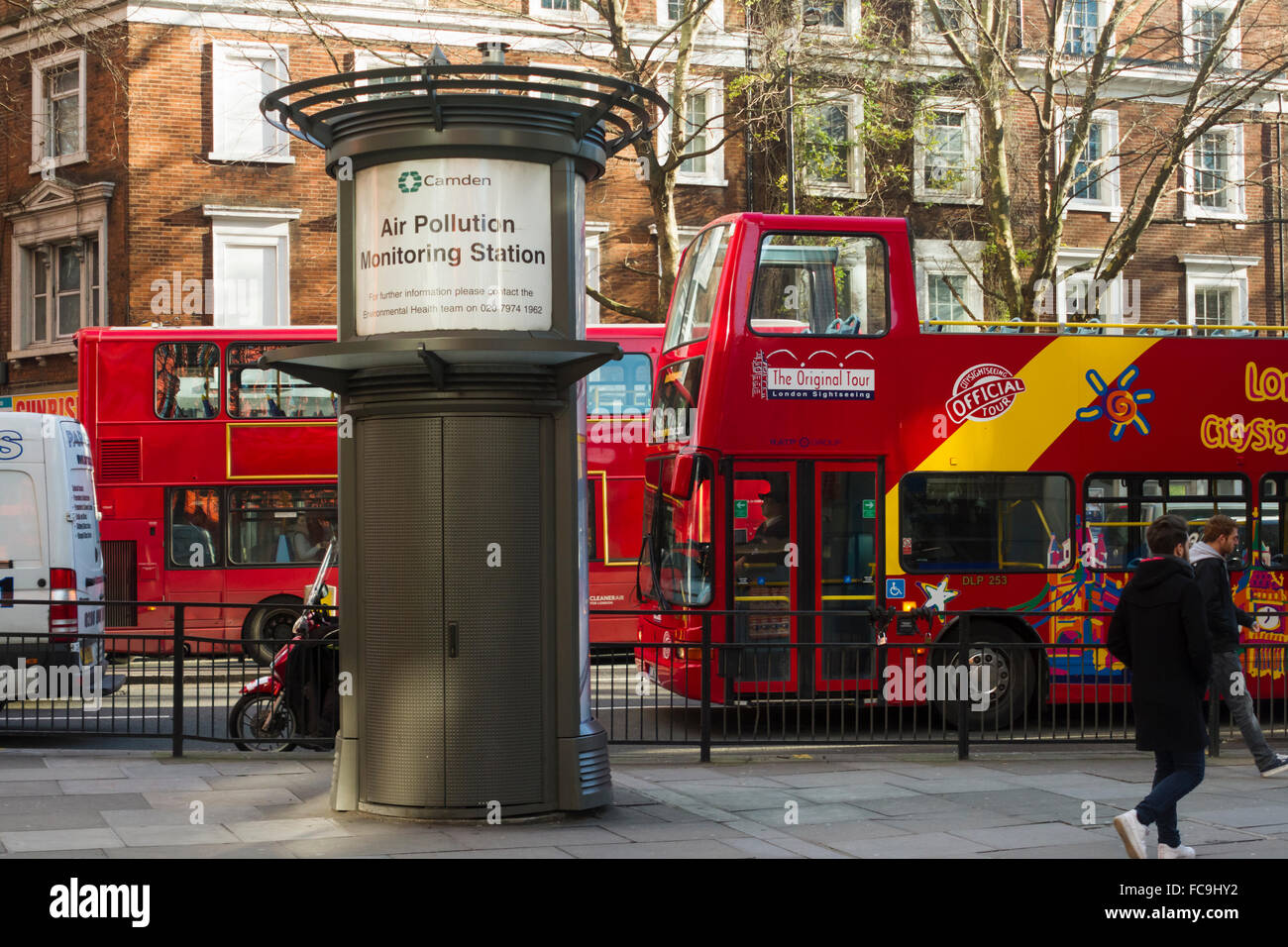 Air Pollution Monitoring station, Shaftesbury Avenue, London. UK - Stock Image