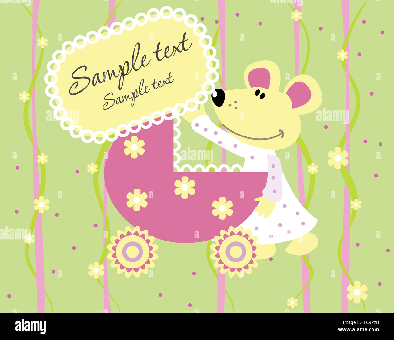 baby arrival announcement card stock photo 93643267 alamy