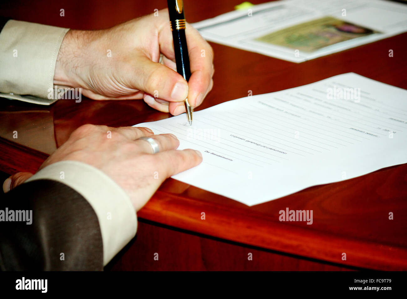 In the registry office Stock Photo