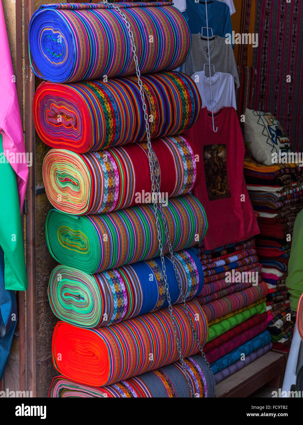 Colourful cloths - Stock Image