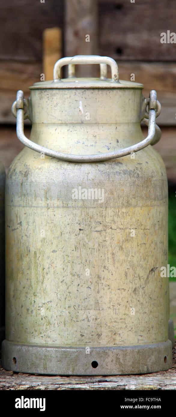 Milk churn Stock Photo