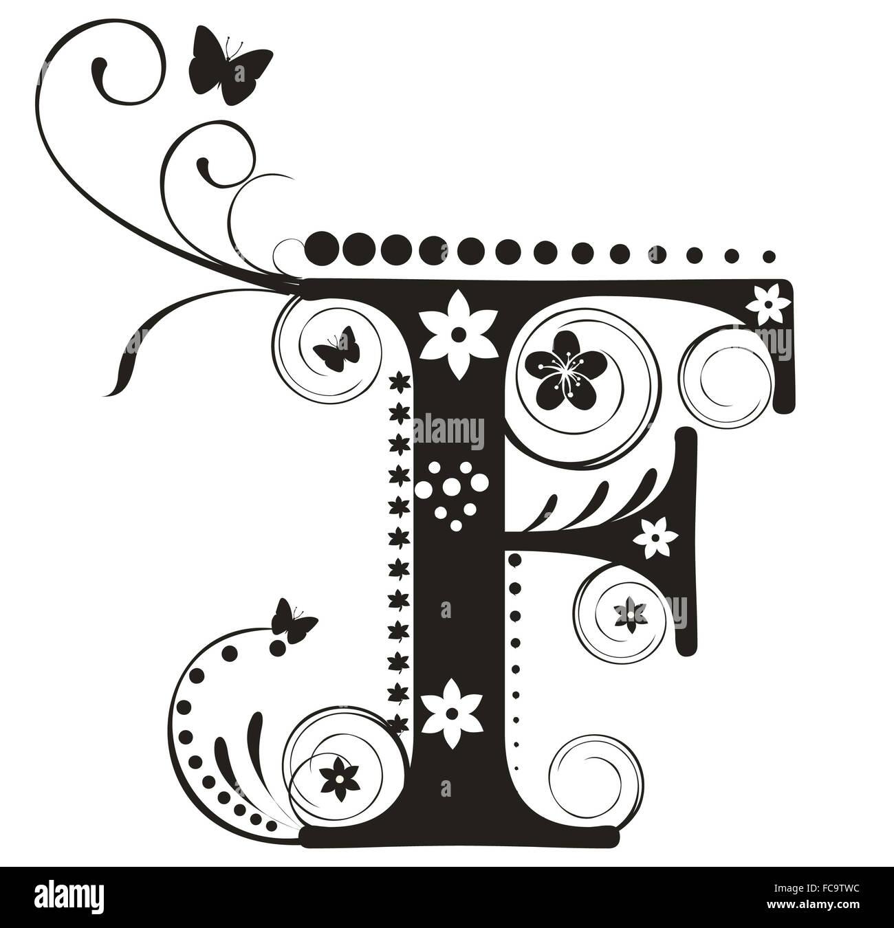 Decorative letter Stock Photo