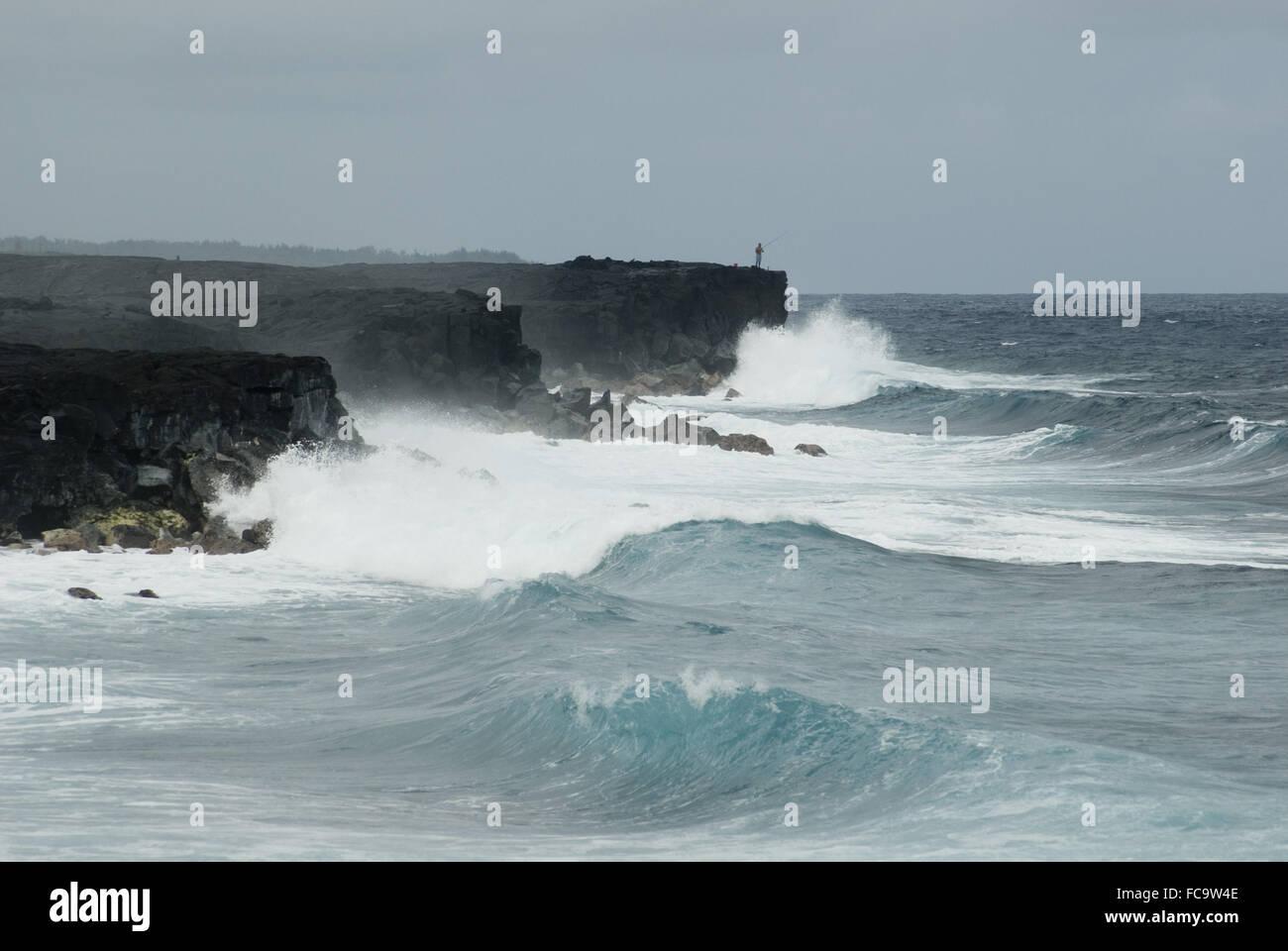 Kalapana rugged oceanscape - Stock Image
