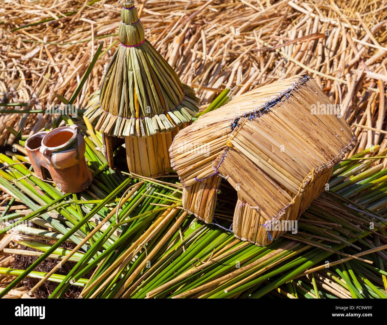 Handicraft - Uros Islands - Stock Image