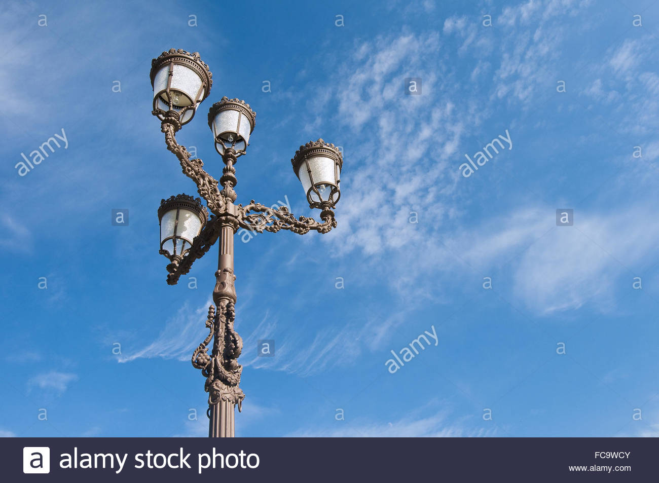 Spanish streetlamp - Stock Image
