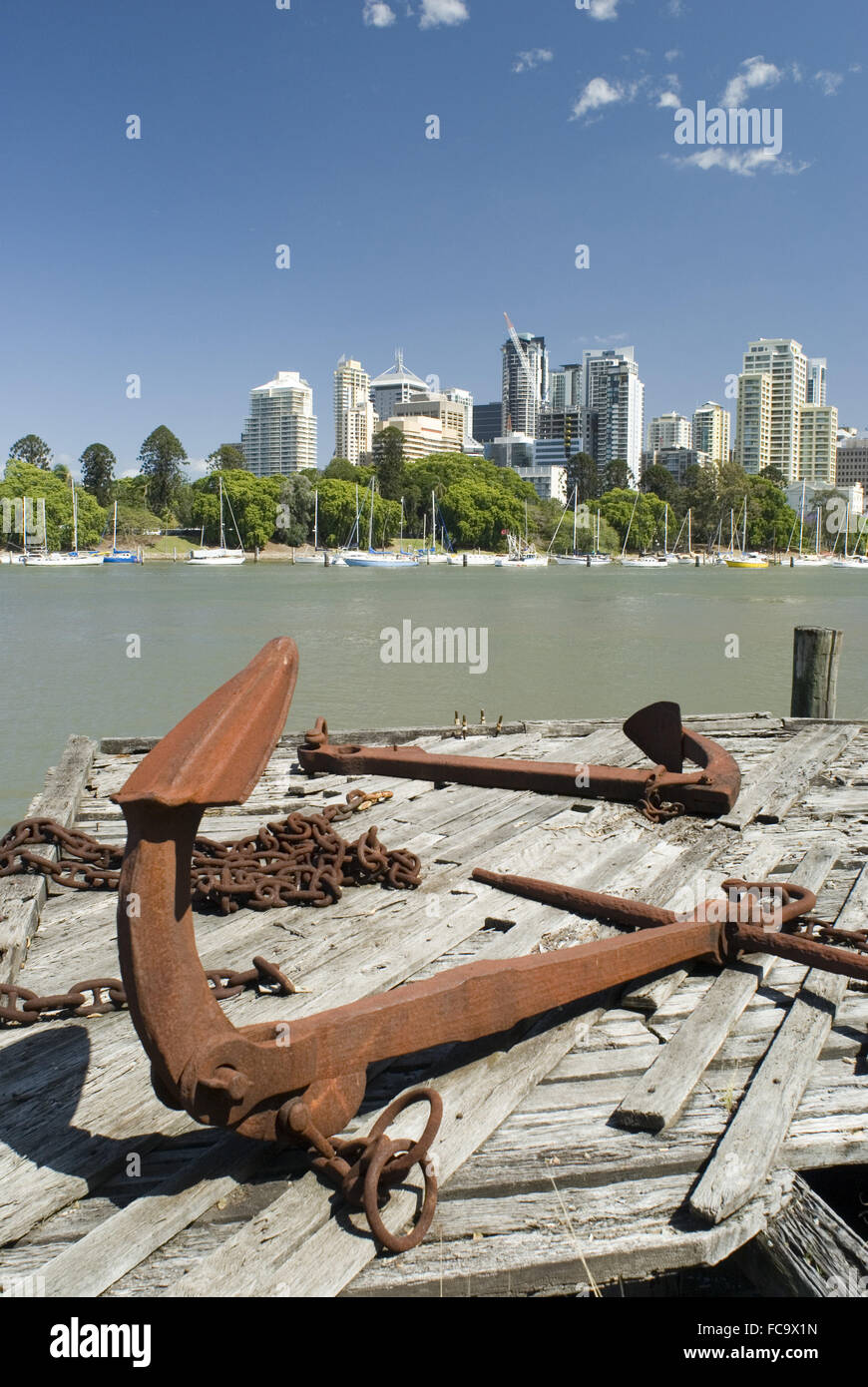 Brisbane River - Stock Image