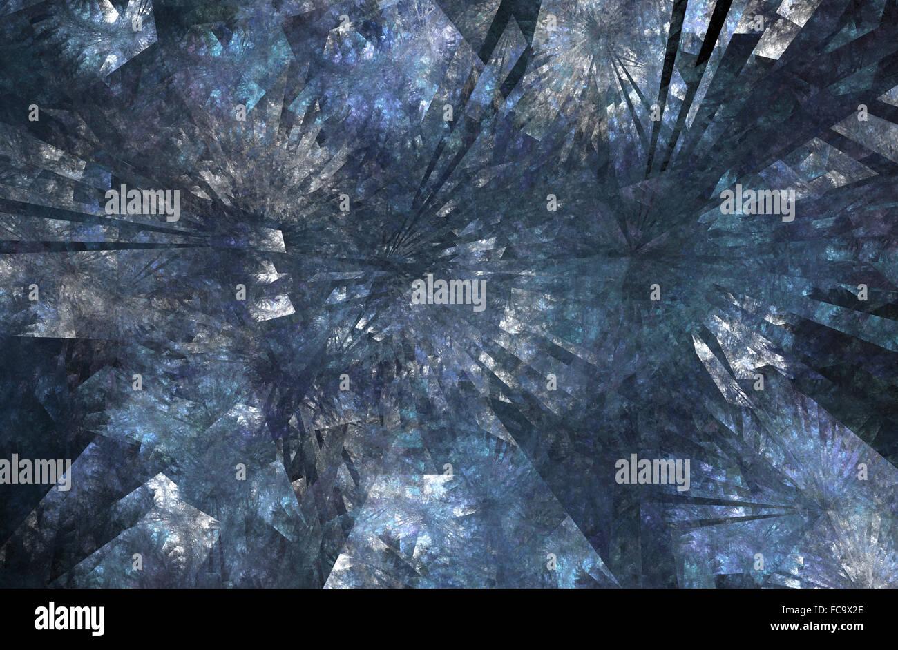 fractal ice - Stock Image