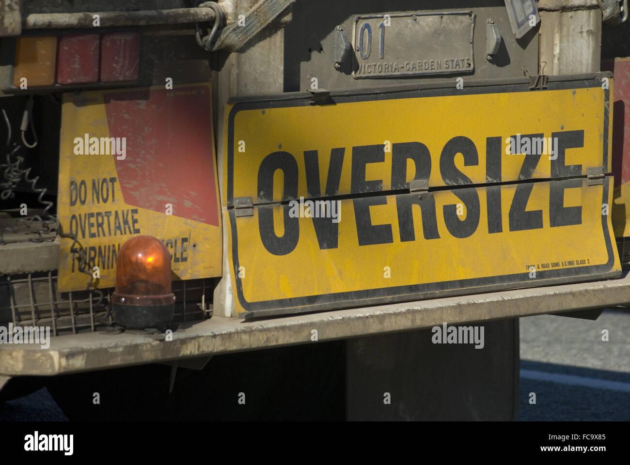 oversize load - Stock Image