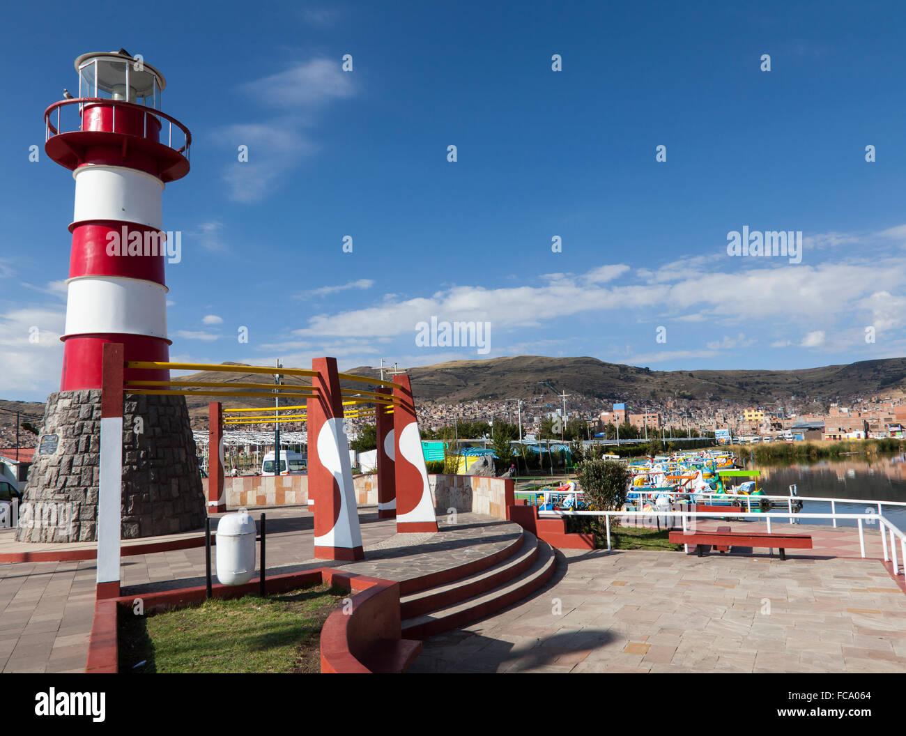 Lighthouse, Puno, Peru - Stock Image
