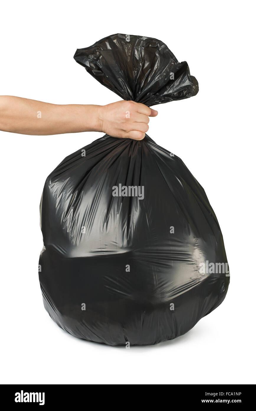 Black bag of rubbish - Stock Image