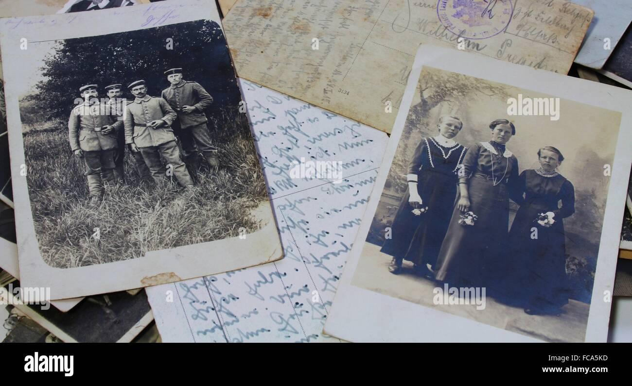 Historical photos - Stock Image