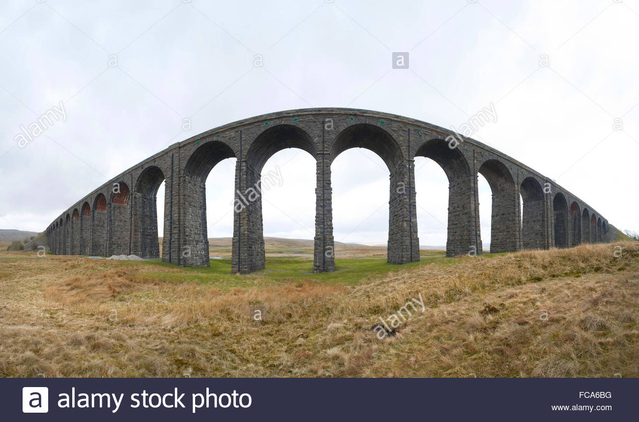Ribblehead Viaduct, North Yorkshire - Stock Image