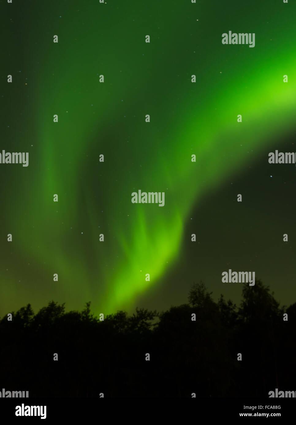 Aurora over Volda (norway) - Stock Image