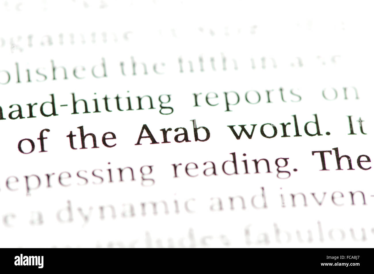 Word Arab World - Stock Image