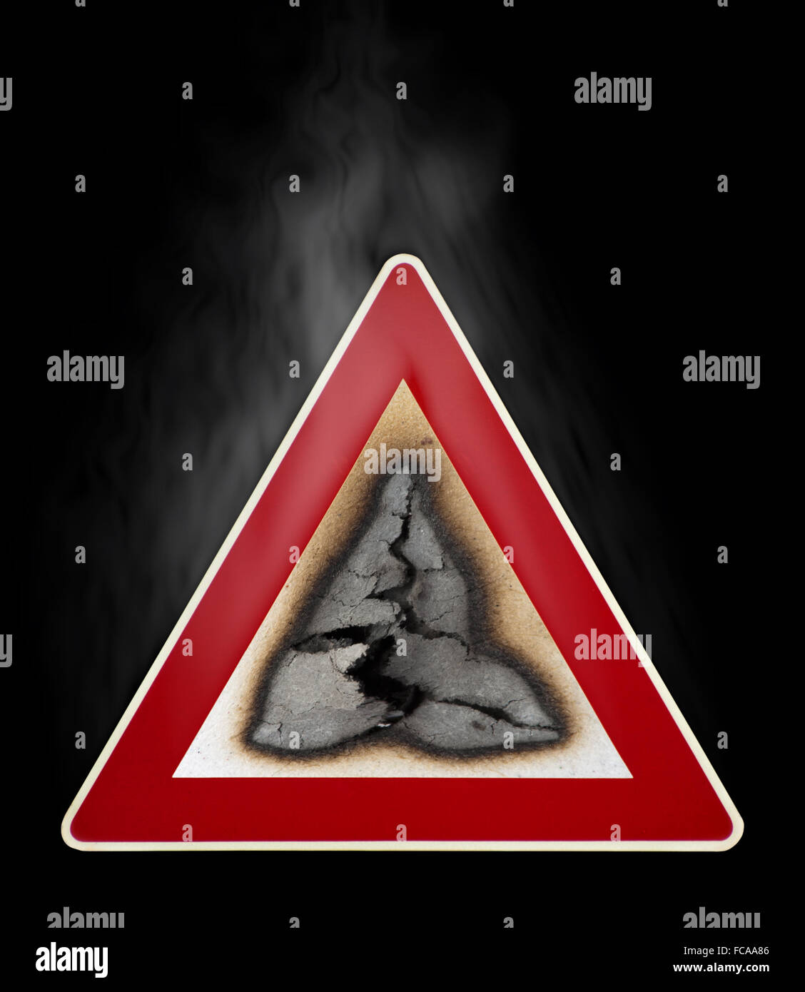 Warning Sign Fire Hazard Stock Photo 93655302 Alamy