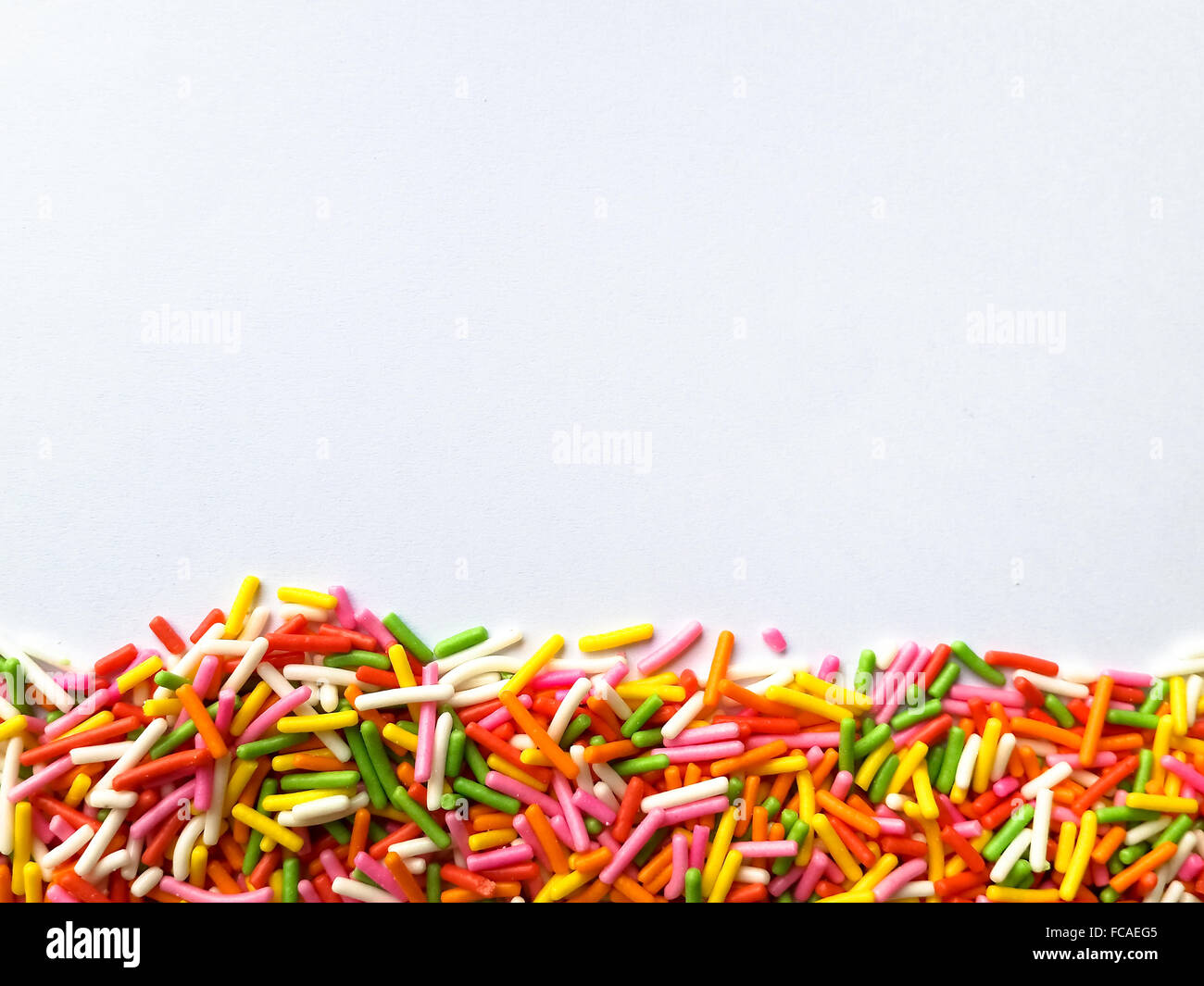 Colorful sprinkle background - Stock Image
