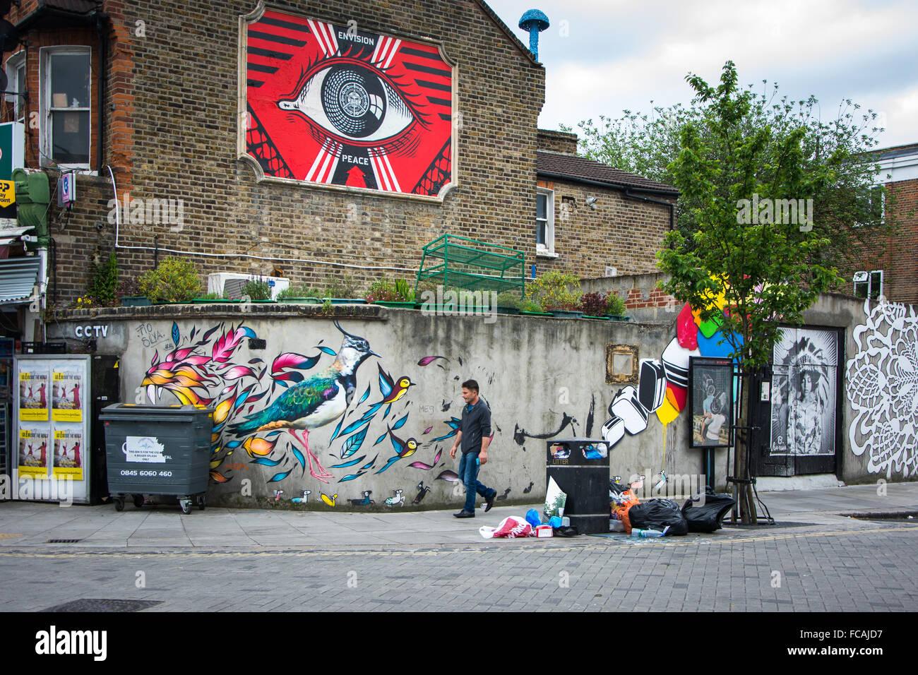 Street Art in Turnpike Lane, Haringey, North London - Stock Image