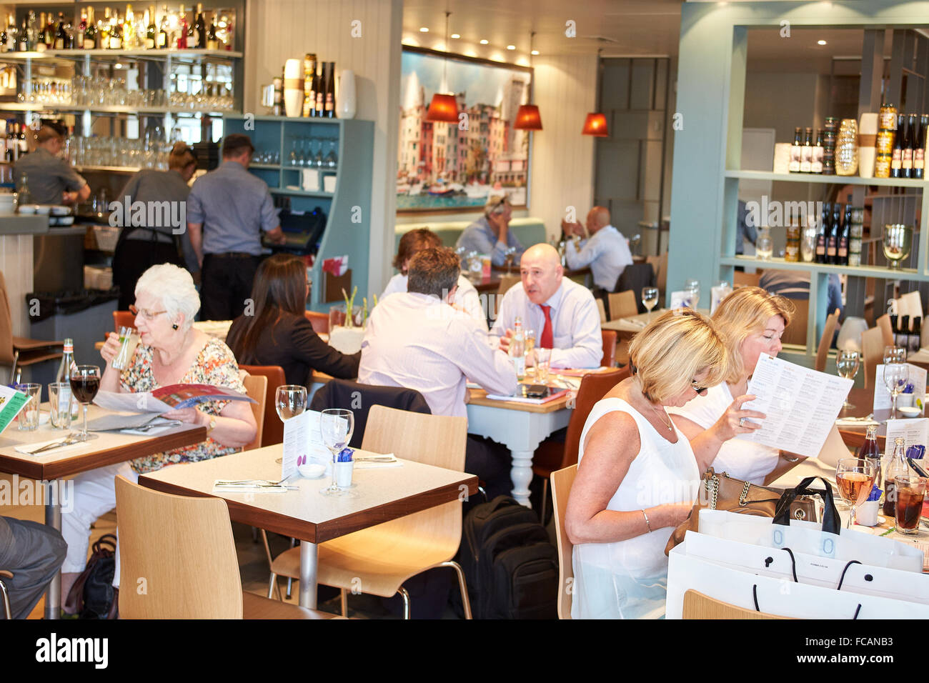 General View Of The Carluccio S Restaurant At Bicester Village Stock Photo Alamy