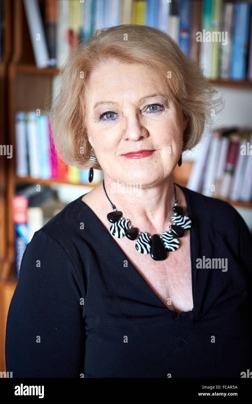 Author Elizabeth Edmondson pictured at her home in Oxford - Stock Image