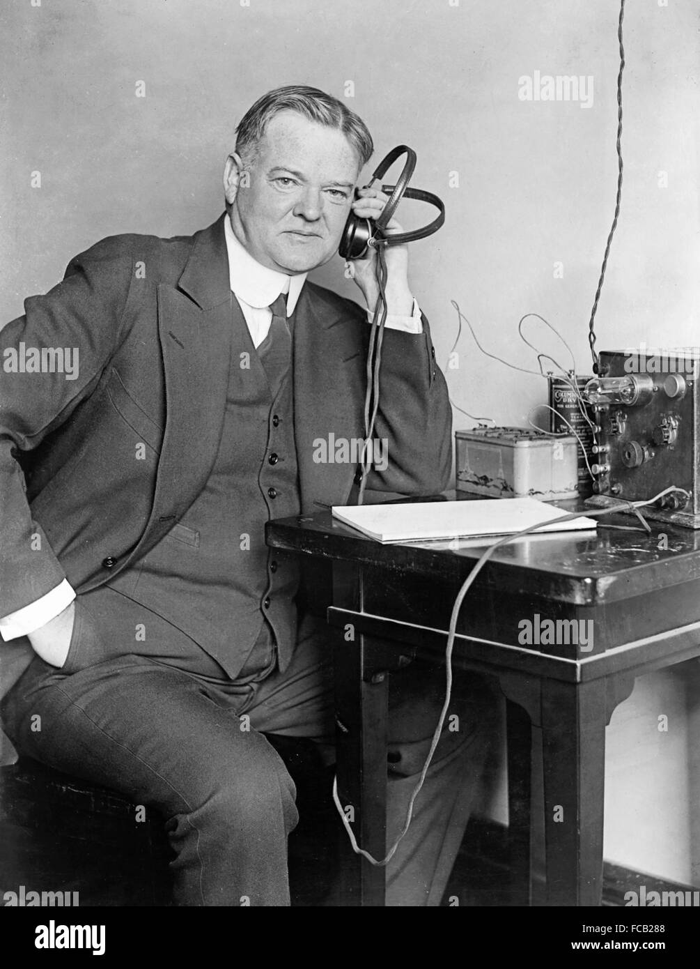 Herbert Hoover, the 31st President of the USA, c.1925 - Stock Image