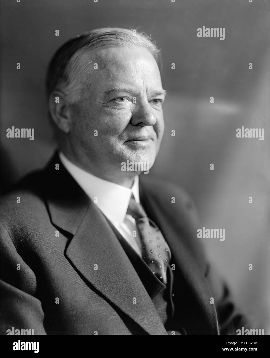 Herbert Hoover, the 31st President of the USA - Stock Image