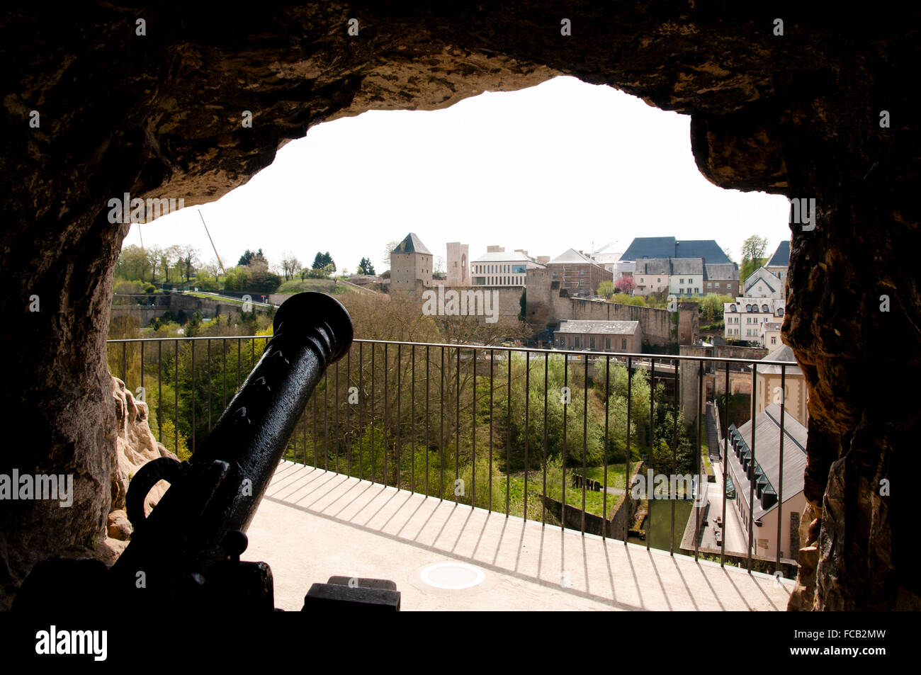 Cannon at the Bock Casemates - Luxembourg - Stock Image