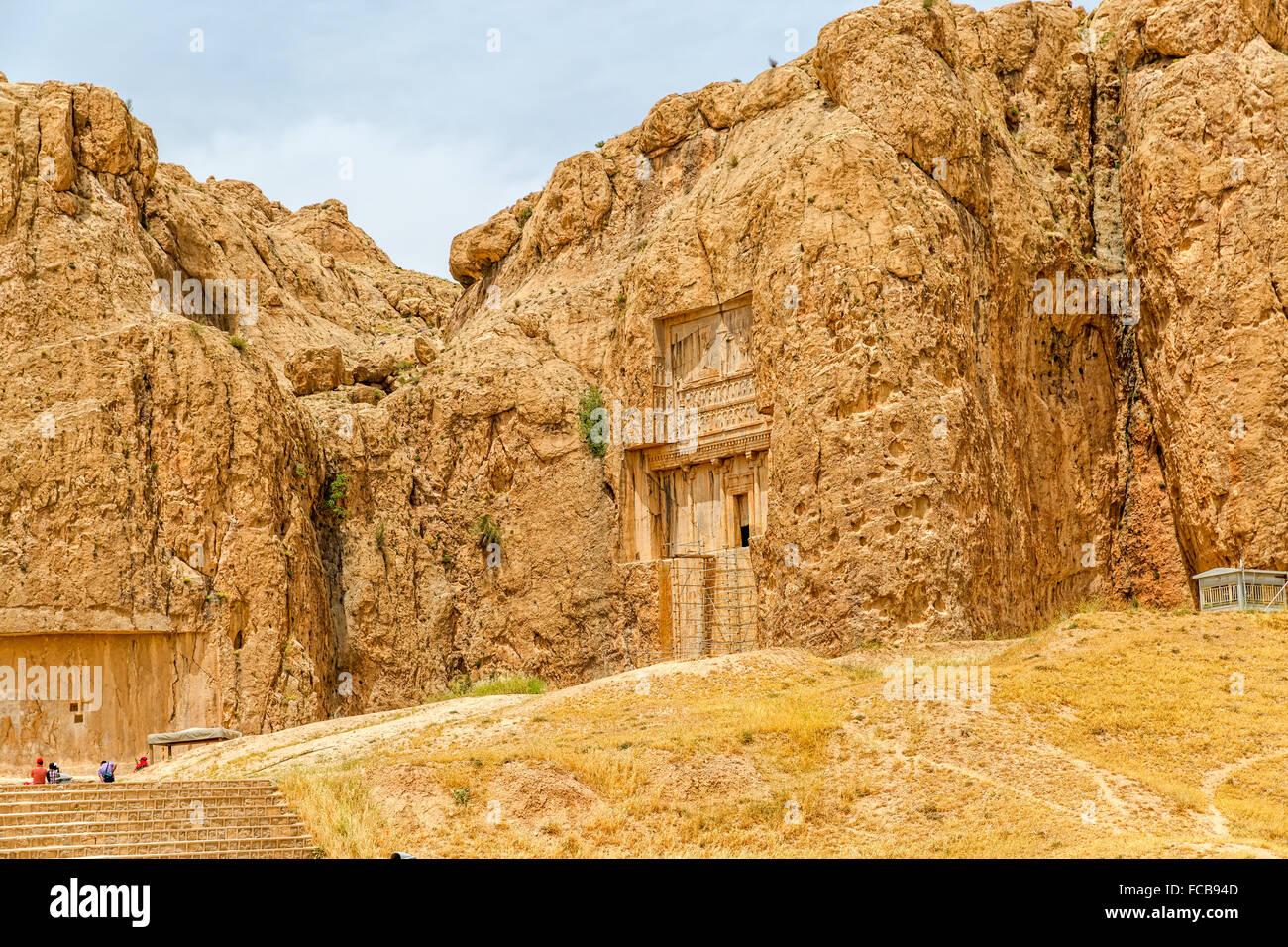 Naqsh-e Rustam tomb - Stock Image