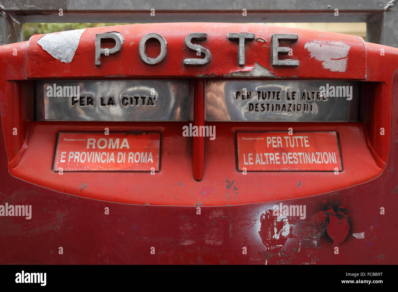 Mailbox in Rome - Stock Image