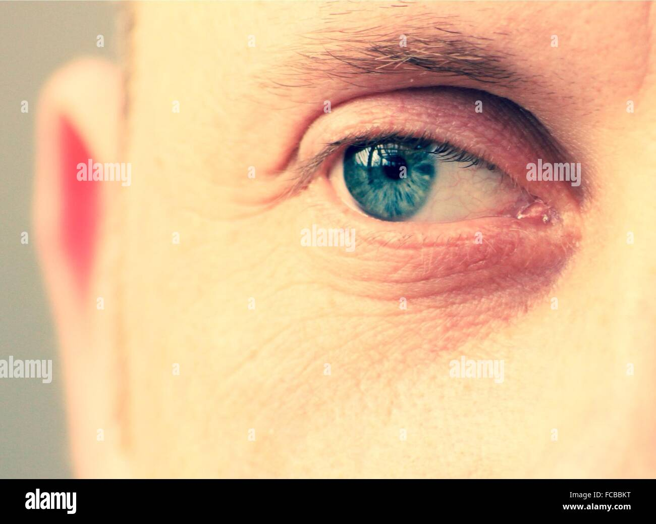 Extreme Close Up Of Male Eye - Stock Image
